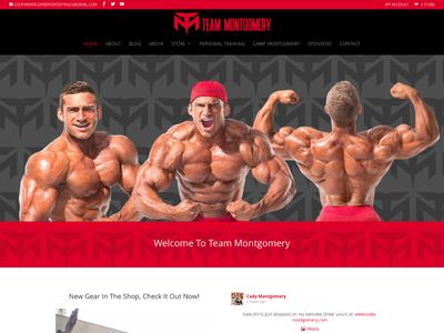 IFBB Pro Cody Montgomery custom wordpress website css html wordpress