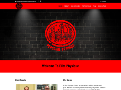 Elite Physique custom wordpress website css html wordpress