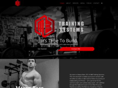 Mb Training Systems custom wordpress website css html wordpress