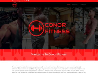 Conor Fitness custom wordpress website css html wordpress