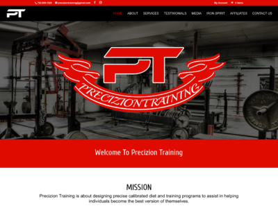 Precizion Training custom wordpress website css html wordpress