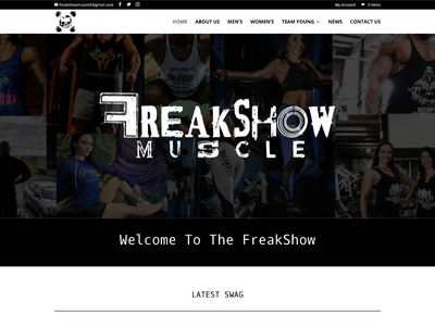 Freakshow Muscle custom wordpress website css html wordpress