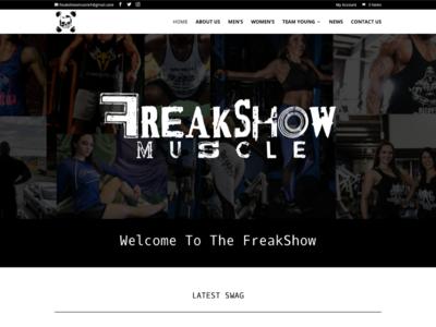 Freakshow Muscle custom wordpress website css html wordpress