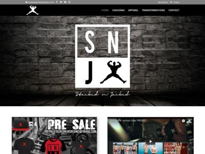Stacked N Jacked custom wordpress website css html wordpress