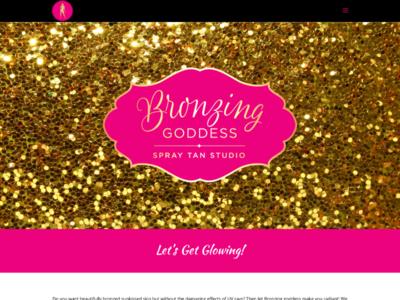Bronzing Goddess custom wordpress website css html wordpress