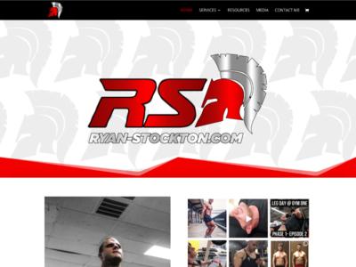 Bodybuilder Ryan Stockton wordpress html css custom wordpress website