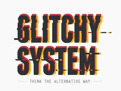 Glitchy system logo