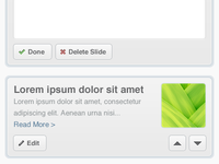Slider admin interface