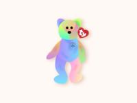 Beanie Baby Peace Bear peace bear peace tie die beanie baby 90s