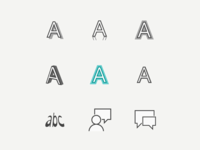Icons for the Word Art Text Effects in MSFT Office