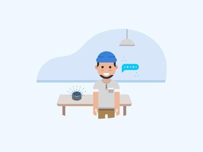 Alexa For Business - TV Screensaver Illustration - 1
