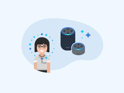 Alexa for Business - TV Screensaver Illustration - 2