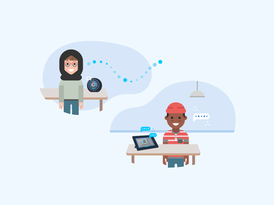Alexa for Business - TV Screensaver Illustration - 3