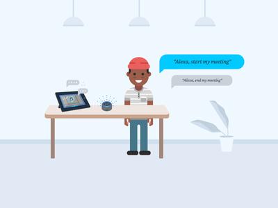 Alexa for Business - TV Screensaver Illustration - 4
