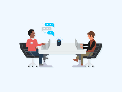 Alexa for Business - TV Screensaver Illustration - 5