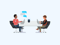Alexa for Business - TV Screensaver Illustration - 5