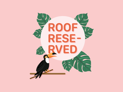 """""""Roof Reserved"""" flyer for a wedding party"""