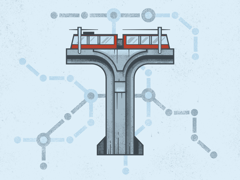 T is for Transport bridge transport czech lines illustrator vector style typography letters abcd lettering alphabet