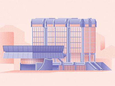 Transgas vintage socialism prague concrete cssr czechoslovakia czech vector brutalism architecture