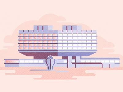 Koospol vintage vector socialism prague czechoslovakia czech cssr concrete brutalism architecture