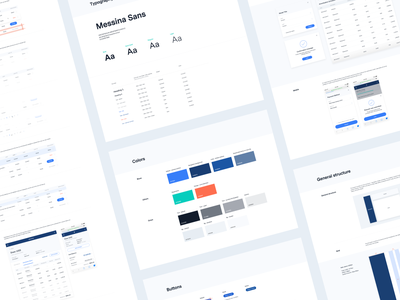 BlueVine Product - Style Guide finance ui visual system style guide web app design ui-kit product design