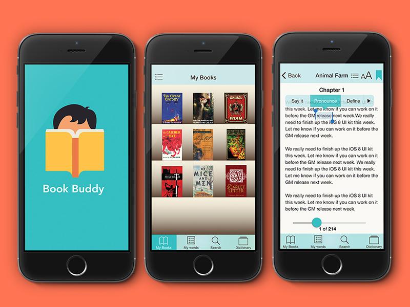 Book Buddy eReader ux-design ui-design education mobile-app e-reader