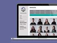 Framework 2016 Algonquin College Graduation Website