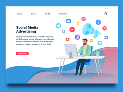 Social Media Marketing advertisement social media marketing graphic design concept uiux illustration