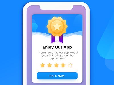 Rating Popup vector concept illustration graphics design uiux notification popup alrt rating popup