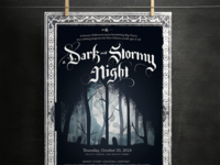 Poster for A Dark & Stormy Night 2016