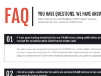 Typographic FAQ treatment