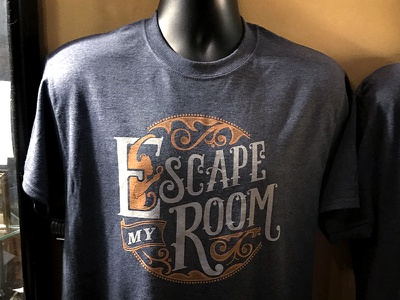 Escape My Room - Logo T-shirt typography escape my room escape room new orleans ornate tee tshirt t-shirt vintage lettering logo art deco