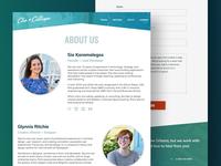 Clio + Calliope - Content Page Design