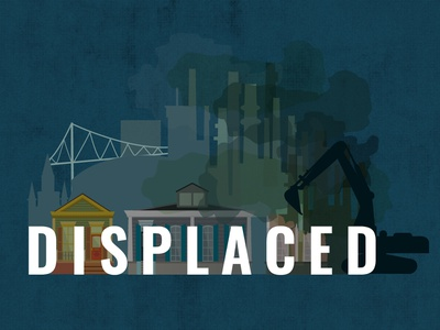 Displaced - Logo illustration environmental racism racism louisiana new orleans segregation housing displacement housing displaced branding logo
