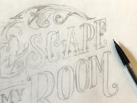 Escape My Room - logo sketch