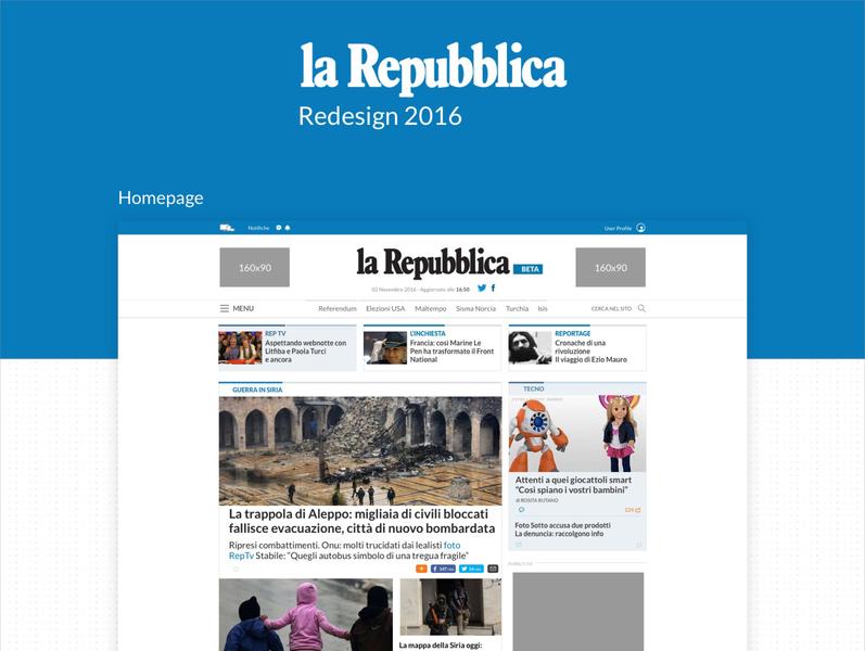 La repubblica redesign 2016 newspaper news branding ui ux design ui design uiux ui