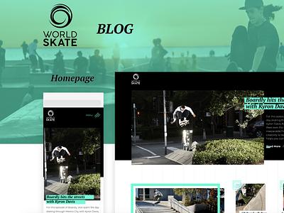 World Skate Blog webdesign website clear skateboarder skateboard sport blog uiux uxdesign ux design ui design uidesign ux ui