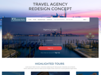 Travel Agency homepage
