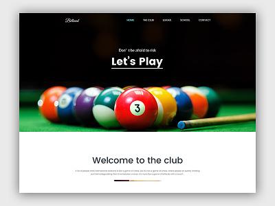 WIP - Billiard  Landing page creative page landing billiard