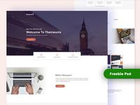 Themeunix FreeBie PSD Template Design