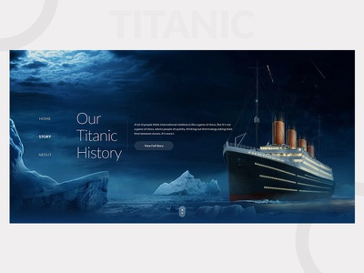 History of Titanic newtrend trend movie ux ui webdesign agency landingpage titanic