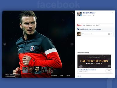 Facebook Photo Viewer Redesign. trend template webdesign web fbredesign ux ui facebook fb