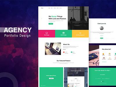 Portfolio Agency Template portfolio agency template minimaldesign webdesign design creative ux ui