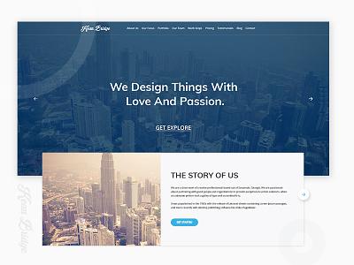 WIP : Landing Page design web ux ui popular marketing page landing homepage