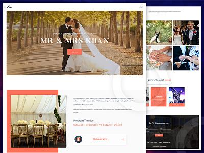 Wedding Theme ❤️ new template design web ux ui wedding