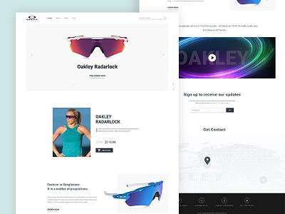 Product Landing Page product minimal new webdesign ux ui template sunglass oakley landingpage e-commerce