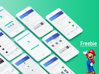FREEBIE .Story writing App template profile new product illustration best shot dribbble creative freebie landing page app design free