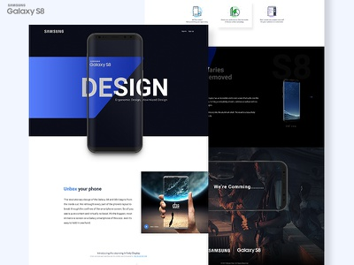 Samsung Galaxy s8 home creative page landing dribbble new template galaxy s8 samsung mobile