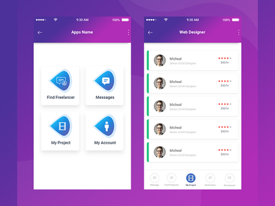 Material App Design Concept interface ios mobile shot new ux ui app