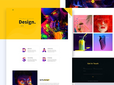 Creative Design Agency website web ux ui product minimal landing page creative design colorful agency